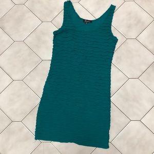 Ruffled Turquoise Dress